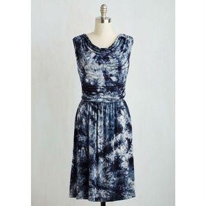 [Modcloth] Live & Let Tie-Dye Jersey Knit Dress